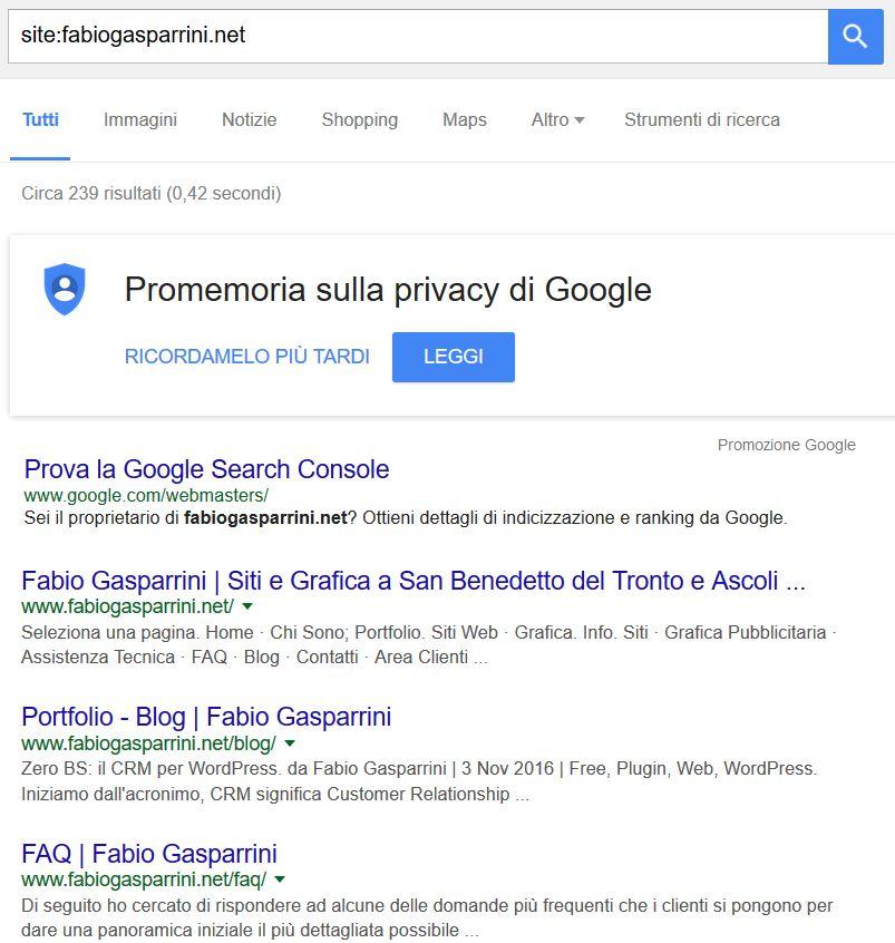 Indicizzare un sito su Google - Fabio Gasparrini siti web e grafica a San Benedetto del Tronto e Ascoli Piceno