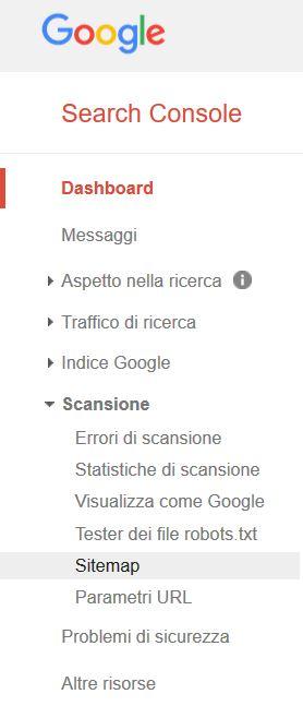 Inviare la sitemap a Google - Fabio Gasparrini siti web e grafica a San Benedetto del Tronto e Ascoli Piceno