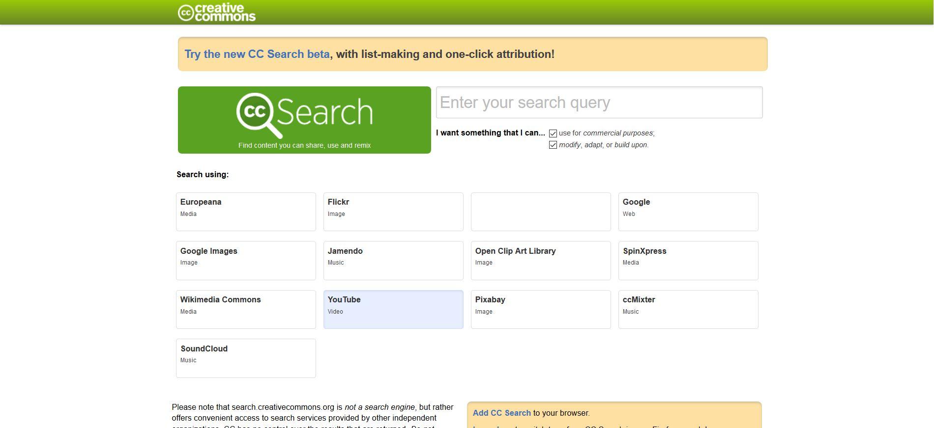CC Search, il nuovo motore di ricerca per contenuti senza Copyright - Fabio Gasparrini siti web e grafica a San Benedetto del Tronto e Ascoli Piceno