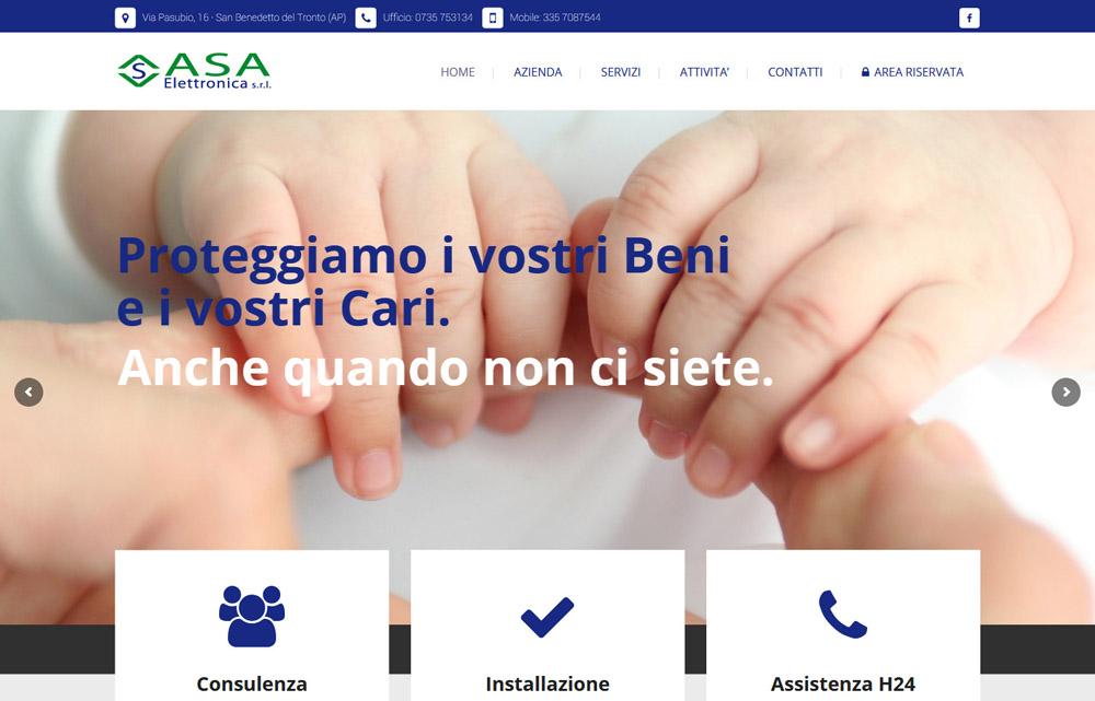 Sito Asa Elettronica - Fabio Gasparrini siti web e grafica a San Benedetto del Tronto, Ascoli Piceno