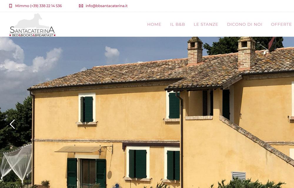 Sito B&B Santa Caterina - Fabio Gasparrini siti web e grafica a San Benedetto del Tronto e Ascoli Piceno