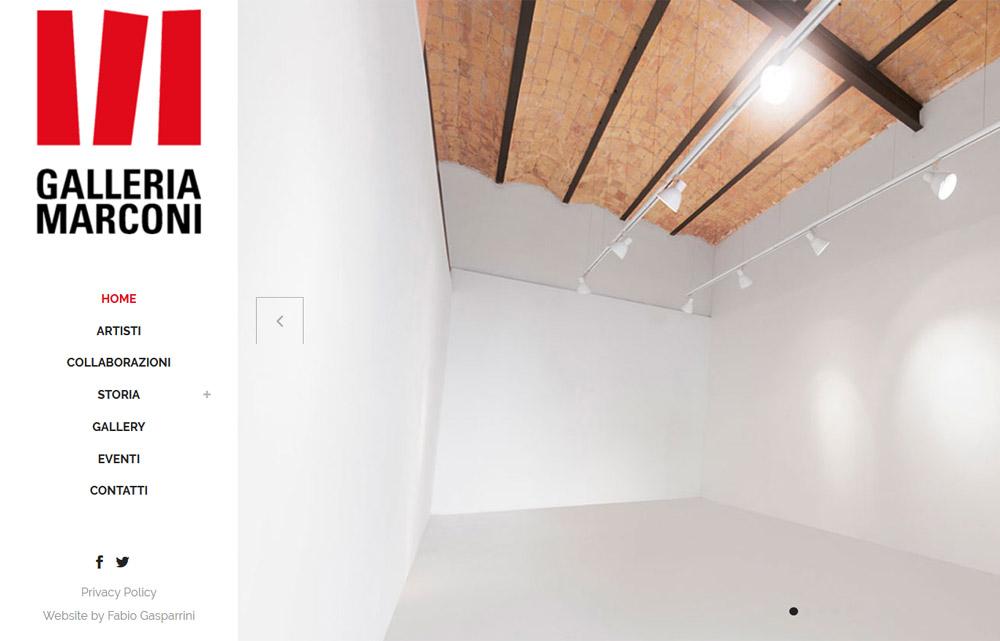 Sito Galleria d'Arte Marconi - Fabio Gasparrini siti web e grafica a San Benedetto del Tronto e Ascoli Piceno