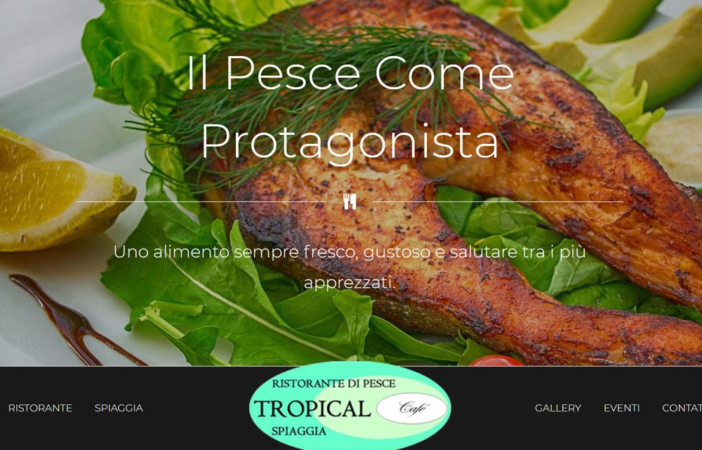 Sito Web Ristorante Tropical - Fabio Gasparrini siti web e grafica a San Benedetto del Tronto e Ascoli Piceno