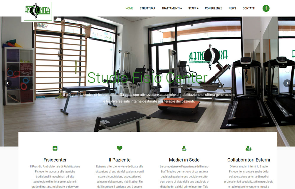 Sito Studio Fisiocenter - Fabio Gasparrini siti web e grafica a San Benedetto del Tronto e Ascoli Piceno