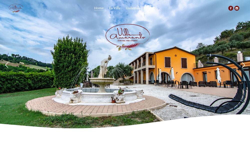 Sito Villa Amaranto - Fabio Gasparrini siti web e SEO a San Benedetto del Tronto e Ascoli Piceno