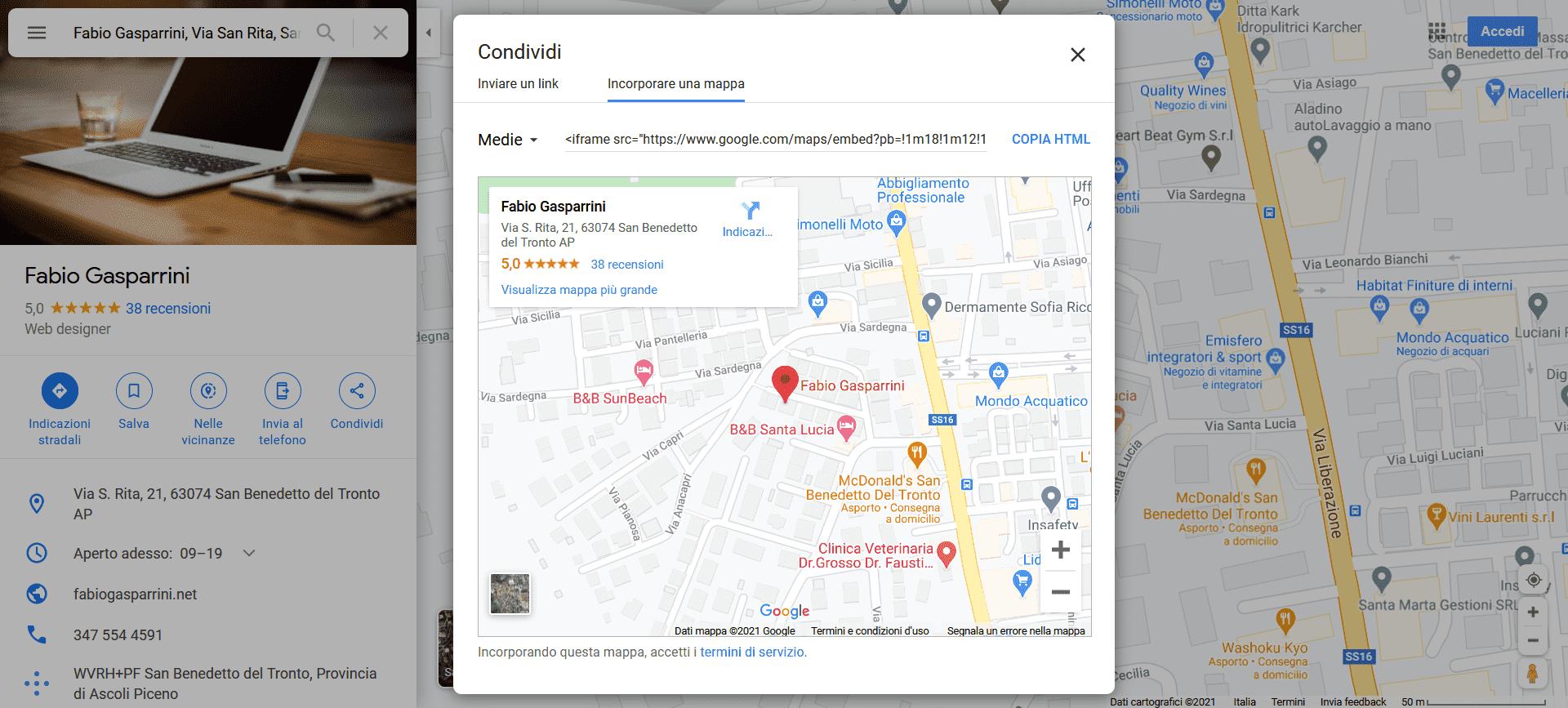 Rendere responsive la mappa di Google Maps
