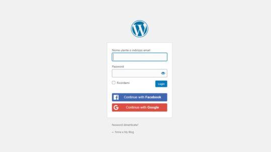 Integrare il login di Facebook in WordPress